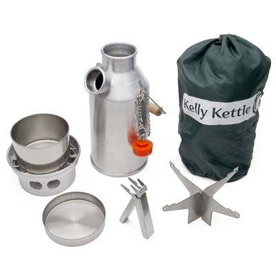 Stainless Steel Trekker Kelly Kettle Complete Kit
