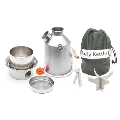 Stainless Steel Scout Kelly Kettle Complete Kit