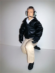 1/4.5 - 1/4 Civilian RC Pilot Figure, Black Leather Jacket