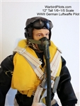 1/5 - 1/6 WWII German Luftwaffe RC Pilot Figure