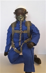 1/4.5 - 1/4 Modern Jet RC Pilot Figure (Blue/White)