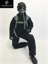 1/4.5 - 1/4 Modern Jet RC Pilot Figure (Black)