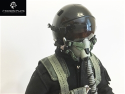 1/7 - 1/8 Modern Jet RC Pilot Figure (Black)