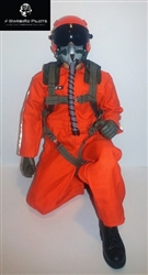 1/5 - 1/6 Modern Jet RC Pilot Figure (Orange)