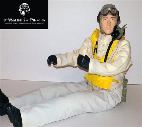 1//4.5 ~ 1//4 Scale US Air Force Navy Pilot Figure w// Servo Operated Head