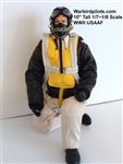 1/7 - 1/8 WWII American USAAF RC Pilot Figure