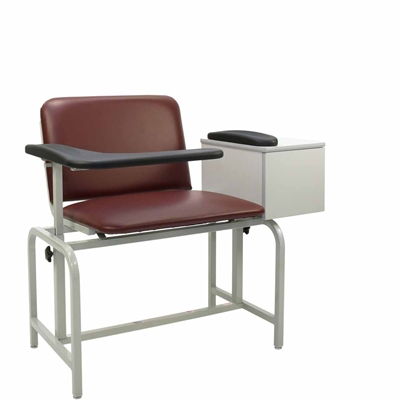 Winco 2574 XL Phlebotomy Chair - Padded Seat & Drawer