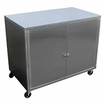 Ideal KC2036 Stainless Utility Cabinet Cart
