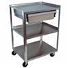 Ideal MC21ED Stainless Utility Cart with Economy Drawer