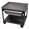 Ideal MC221ED Stainless Utility Cart with Economy Drawer