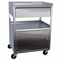 Ideal MCC21D Stainless Utility Cabinet Cart