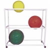 Ideal SR60 PVC Therapy Ball Storage Rack - 6 Balls