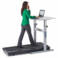 TR 1200-DT5 Manual Adjust Standing Desk with 2.5 hp Treadmill
