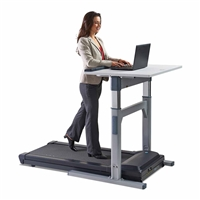 TR 5000-DT7 Electronic Adjust Standing Desk with 3 hp Treadmill