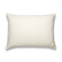 Elitis Veda  CO 120 02 02 linen solid color cream throw pillow.  Click for details and checkout >>