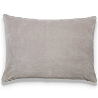Elitis EurydiceCO 122 13 03 velvet solid color stone gray throw pillow.  Click for details and checkout >>