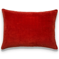 Elitis Eurydice CO 122 37 03 velvet solid color blood red throw pillow.  Click for details and checkout >>