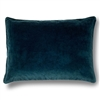 Elitis Eurydice CO 122 41 03 velvet solid color deep blue throw pillow.  Click for details and checkout >>