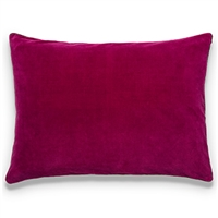 Elitis Eurydice CO 122 52 03 velvet solid color lipstick pink throw pillow.  Click for details and checkout >>