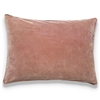 Elitis Eurydice CO 122 59 03 velvet solid color soft pink throw pillow.  Click for details and checkout >>