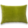 Elitis Eurydice CO 122 65 03 velvet solid color lime green throw pillow.  Click for details and checkout >>