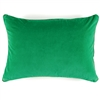 Elitis Eurydice CO 122 69 03 velvet solid color shamrock green throw pillow.  Click for details and checkout >>
