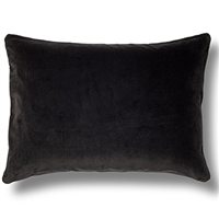 Elitis Eurydice CO 122 89 03 velvet solid ebony throw pillow.  Click for details and checkout >>