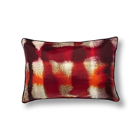 Elitis Balibar  CO 128 35 04.  Silk red multi colored throw pillow.  Click for details and checkout >>