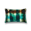 Elitis Balibar  CO 128 49 04.  Silk aqua multi colored throw pillow.  Click for details and checkout >>