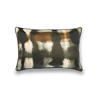Elitis Balibar  CO 128 81 04.  Silk camo multi colored throw pillow.  Click for details and checkout >>