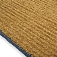 Elitis Atacama Honey.  100% linen golden yellow textured area rug.  Click for details and checkout >>