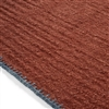 Elitis Atacama Terracotta.  100% linen maroon textured area rug.  Click for details and checkout >>