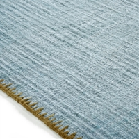 Elitis Atacama Stone Blue.  100% linen sky blue textured area rug.  Click for details and checkout >>