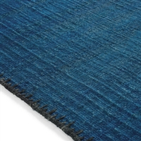Elitis Atacama Peacok.  100% linen navy blue textured area rug.  Click for details and checkout >>