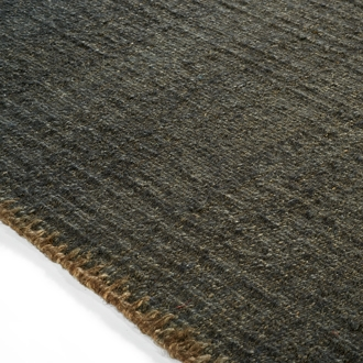 Elitis Atacama Thunderstorm.  100% linen charcoal textured area rug.  Click for details and checkout >>