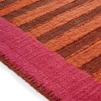 Elitis Ahora Berlingot.  Pink and orange linen and cotton runner rug.  Click for details and checkout >>