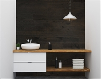 Charcoal Real Wood Peel and Stick Wall Planks.  Click for details and checkout >>