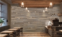 Backcountry Barn Wood Real Wood Peel and Stick Wall Planks.  Click for details and checkout >>