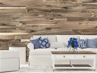 Unfinished Stainable Walnut Real Wood Peel and Stick Wall Planks.  Click for details and checkout >>