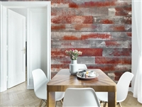 Barn Wood Red Weathered Scarlet Real Wood Peel and Stick Wall Planks.  Click for details and checkout >>
