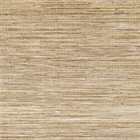 Elitis Panama VP 710 06.   Wheat brown infused color sisal stripe vinyl textured wallpaper.  Click for details and checkout >>