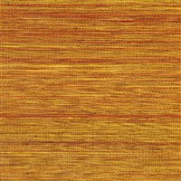 Elitis Panama VP 710 13.   Pumpkin orange infused color sisal stripe vinyl textured wallpaper.  Click for details and checkout >>