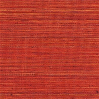 Elitis Panama VP 710 14.   Lipstick red infused color sisal stripe vinyl textured wallpaper.  Click for details and checkout >>