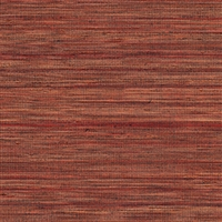 Elitis Panama VP 710 16.   Pomegranate red infused color sisal stripe vinyl textured wallpaper.  Click for details and checkout >>