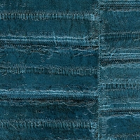 Elitis Anguille VP 424 09.  Aqua Blue Faux Eel Skin Wallpaper.  Click for details and checkout >>