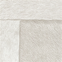 Elitis Indomptee VP 618 02.  Off White faux fur embossed wallpaper.  Click for details and checkout >>