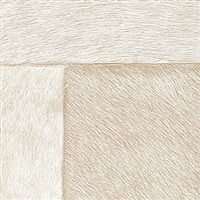 Elitis Indomptee VP 618 03.  Tan faux fur embossed wallpaper.  Click for details and checkout >>