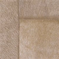 Elitis Indomptee VP 618 08.  Light brown faux fur embossed wallpaper.  Click for details and checkout >>