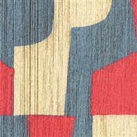 Elitis Pop RM 896 30.  Red, white and blue geometric handcrafted wallpaper.  Click for details and checkout >>