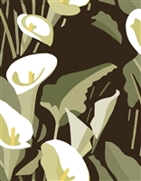 Elitis Flower Power TP 304 03.  Brown and white calla lily floral large print wallpaper.  Click for details and checkout >>
